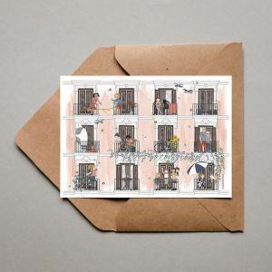 Dubbele kaart 'Zomer', Studio Zwaanstraat 5