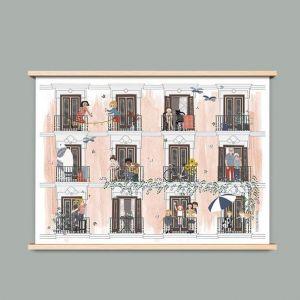 A4 poster 'Zomer', Studio Zwaanstraat 1