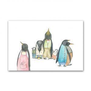 Kaart pinguinfamilie, Fantasiebeestjes 1