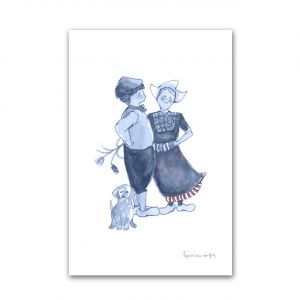 Kaart Hollands blauw boer/boerin, Fanatasiebeestjes 1
