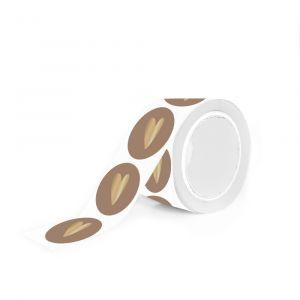 Mat gekleurde stickers gouden hart (HOP) 7