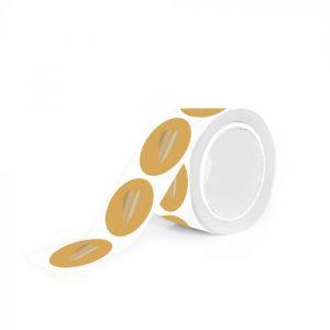 Mat gekleurde stickers gouden hart (HOP) 11