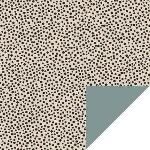 Cadeaupapier beige dots (HOP) 1