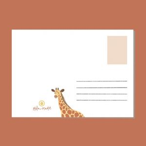 Kaart Safari dieren, Mila-made 2