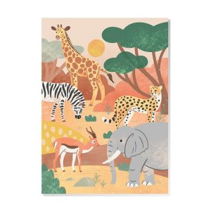 Kaart Safari dieren, Mila-made 1