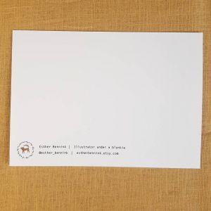 Kaart papieren bootje, Esther Bennink 2