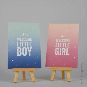 Kaart Welcome little boy (irisdruk), Letterpers 2