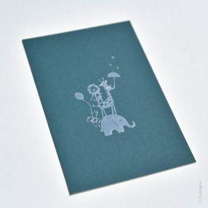 Kaart dierenbende blauw, Letterpers 2