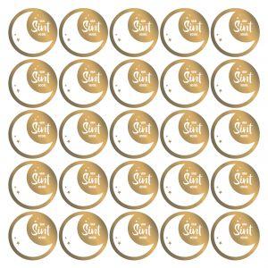 Sinterklaas stickers kleur of goud 2
