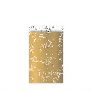 Sinterklaas zakje Sing along goud (middel)(klein) 2