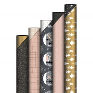 Cadeaupapier glitter zwart 3