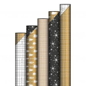 Cadeaupapier glitter zwart 4