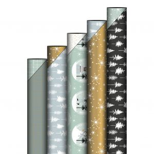 Cadeaupapier glitter zwart 5