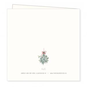 Kerstkaart mistletoe, Ingrid van der krol 2