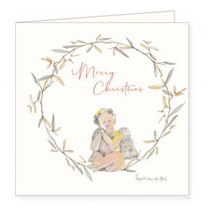 Kerstkaart engeltje, Ingrid van der krol 1