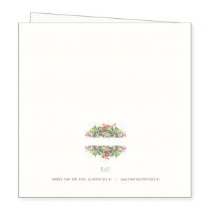 Kerstkaart kerstboeket, Ingrid van der krol 2