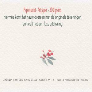 Kerstkaart blaadjeskrans, Ingrid van der krol 3