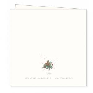 Kerstkaart kerststukje, Ingrid van der krol 2
