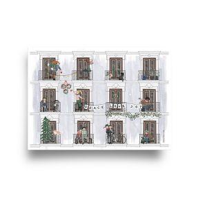 A4 poster Winter, Studiozwaanstraat 2