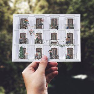 Dubbele kaart 'Winter', Studio Zwaanstraat 1