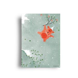 A6 kaart Party animal, Studiozwaanstraat 2
