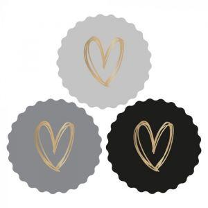 Kartel sticker hart grijstint (HOP) 2