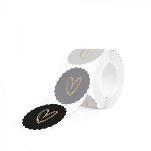 Kartel sticker hart grijstint (HOP) 1