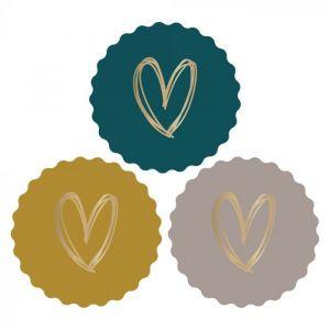 Kartel sticker hart oker-grijs-petrol (HOP) 2