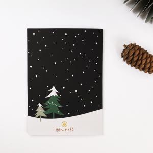 Kerstkaart Das in de sneeuw, Mila-made 4