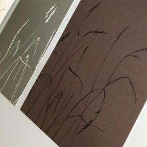 Kaart grassen in wit-grijs-bruin, Marieke ten Berge 3