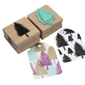 Stempel naaldboom of kerstboom, Miss Honeybird 1