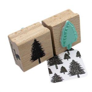 Stempel naaldboom of kerstboom, Miss Honeybird 3