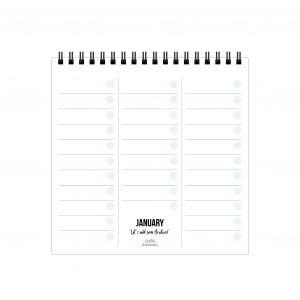 Monthly plan bureaukalender, Studio Stationery 2