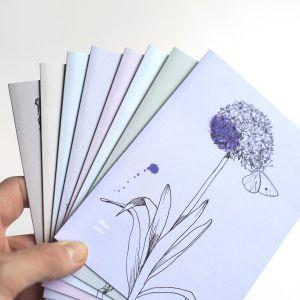 Dubbele kaart Allium/geluk, Veer&Moon 4