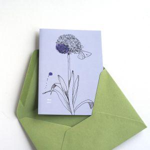 Dubbele kaart Allium/geluk, Veer&Moon 3