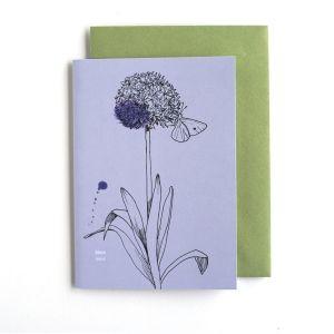 Dubbele kaart Allium/geluk, Veer&Moon 1