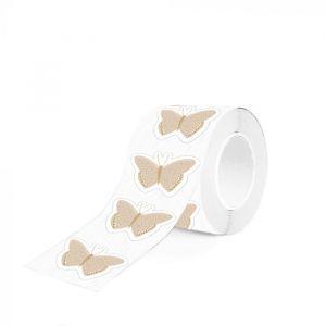Sticker vlinder goud 1