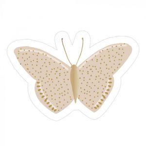 Sticker vlinder goud 2