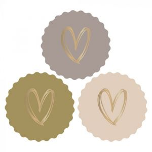 Kartel sticker hart groen-grijs (HOP) 2