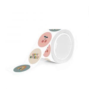 Sticker kers regenboog happy birthday (HOP) 1