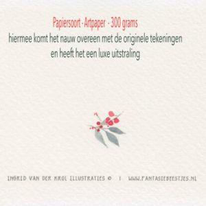 Dubbele kaart Gecondoleerd, Ingrid van der krol 4