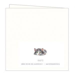 Dubbele kaart kat, Ingrid van der Krol 2