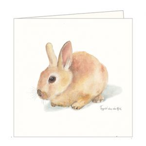 Dubbele kaart konijntje, Ingrid van der krol 1