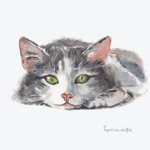 Minikaartje kat, Ingrid van der Krol 1