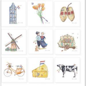Minikaartje Hollandse boer/boerinnetje, Ingrid van der Krol 2