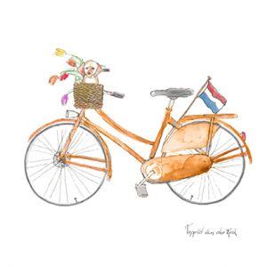 Minikaartje Hollandse fiets, Ingrid van der Krol 1