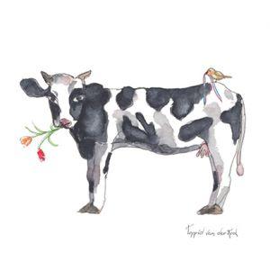 Minikaartje Hollandse koe, Ingrid van der Krol 1