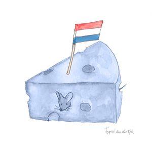 Minikaartje Hollands blauw kaas, Ingrid van der Krol 1