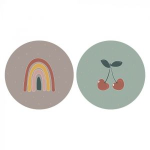 Sticker kers regenboog, HOP 2