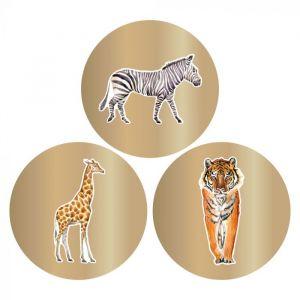 Stickers dieren goud (HOP) 2